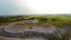 Flying over the mine mountains. Nature landscape. Aerial foootage Stock Footage