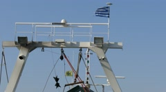Greece, national flag Stock Footage