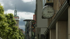 Close up of an IWC clock on Konigstrasse in Stuttgart Stock Footage