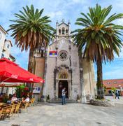 Orthodox Church of Archangel Michael in Herceg Novi, Montenegro - stock photo