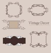 vector set: calligraphic design elements and page decoration, Premium Quality - stock illustration