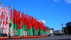 Minsk, Belarus, the presidential elections Stock Footage