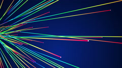 4k Multi Color Line Stream Animation Background. Stock Footage