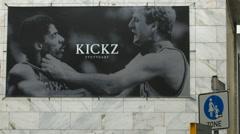 Kickz - a sporting goods store in Stuttgart Stock Footage