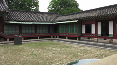 Courtyard Changdeokgung Palace South Korea Zoom Out Stock Footage