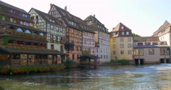 Petite France is a historic quarter of the city of Strasbourg Stock Footage