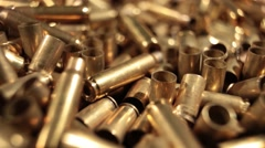 Ammunition Shells Detail Dolly 5.56 9mm Stock Footage