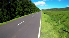 Aerial footage Road in San Miguel (azores, portugal) - stock footage