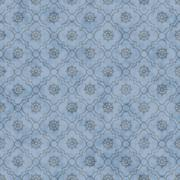 Pale Blue Wheel of Dharma Symbol Tile Pattern Repeat Background - stock illustration