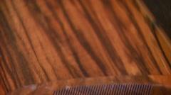Stock Video Footage of Shotgun on animal skin rug