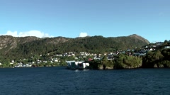 North Europe Norway City Of Bergen 128 islands landscapes in Byfjord Stock Footage