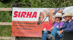 Judges at SIRHA reining competition Stock Footage