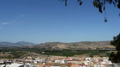 Overview of Cartama, inland village of Andalucia, Spain Stock Footage