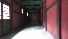Hallway Changdeokgung Palace South Korea Zoom Out Stock Footage