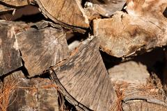 Close view of fire wood - stock photo