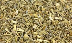 Close view of organic wormwood herb - stock photo