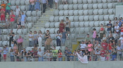 WSupporters applauding on Cluj Arena, Cluj-Napoca Stock Footage