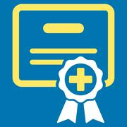 Medical Certificate Icon - stock illustration