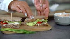 Finally preparation of sandwich  Stock Footage