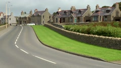 Scotland Orkney Islands Kirkwall 034 residential district on the dyke Stock Footage