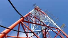 Stock Video Footage of broadcasting antennas and towers site.
