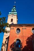 The church tower of the former Protestant church - stock photo