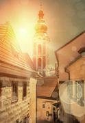 One of the famous popular travel place in Europe - Cesky Krumlov Stock Photos