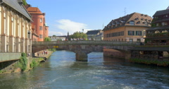 Petite France is a historic quarter of the city of Strasbourg - stock footage