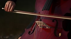 Good playing the cello Stock Footage