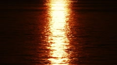 Sun Reflection On Shimmering Water Surface Stock Footage