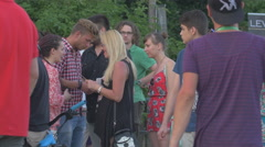 WYoung people and teenagers relaxing at River Fest, Cluj-Napoca Stock Footage