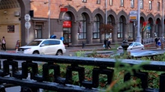 Beautiful street of Minsk,Belarus Stock Footage