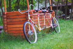 Bicycles for two passengers, the tandem - stock photo