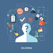 Dilemma Concept Illustration Piirros