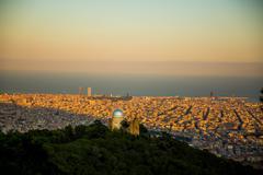 Barcelona skyline Stock Photos