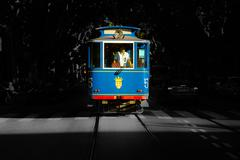 Barcelona Tramvia Blau Stock Photos