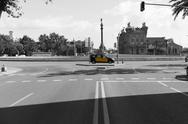 Stock Photo of Barcelona yellow cab