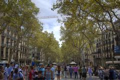 Barcelona Las Ramblas - stock photo