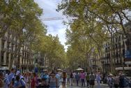 Stock Photo of Barcelona Las Ramblas