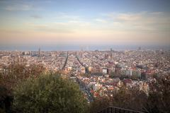 Barcelona skyline - stock photo