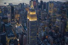 New York aerial Empire State - stock photo