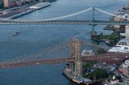 Stock Photo of Brooklyn Bridge aerial