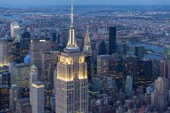 Empire State aerial - stock photo