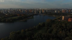 Moscow region bird's-eye view. Stock Footage