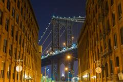Dumbo Manhattan Bridge - stock photo