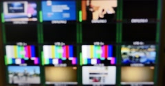 4K footage of a channel panel, the shot is left out of focus Stock Footage