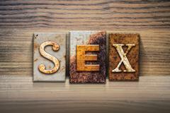 Sex Concept Letterpress Theme - stock illustration