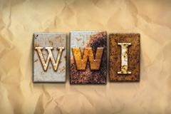 WWI Concept Rusted Metal Type - stock illustration