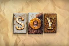 Soy Concept Rusted Metal Type Stock Illustration