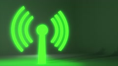 Wifi wireless internet network net web connection icon logo wi-fi wi fi 4k Stock Footage